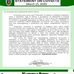2nd Message of our Local Chief Executive Hon. MARIO B. SUBAGAN on COVID 19 situation in our Municipality