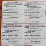 Official Pass Slip